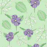 Violet Tropical Textile Floral Repeat-Druck-Muster im Vektor lizenzfreie abbildung