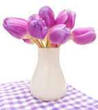 Violet Tulips Stock Image