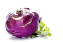 Violet turnip with green top Stock Photos