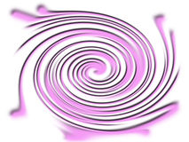 Violet twirl. A computer generated violet twirl on a white background Stock Images