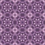 Violet universal vector seamless patterns, tiling. Geometric ornaments. Stock Photography
