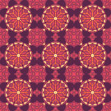 Violet universal vector seamless patterns, tiling. Geometric ornaments. Stock Photo