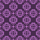 Violet universal vector seamless patterns, tiling. Geometric ornaments. Stock Image