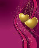 Violet valentines background Stock Photos