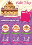 Violet background for cake Template Royalty Free Stock Photos