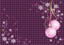 Violet vector Christmas design Royalty Free Stock Photos