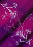 Violet vector floral background Stock Photography