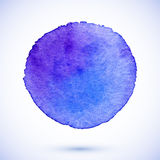 Violet vector isolated watercolor paint circle Stock Images