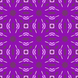 Violet vector seamless patterns, tiling. Geometric ornaments. Stock Images