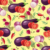 Violet vegetables seamless Stock Images