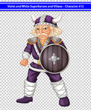 Violet viking Royalty Free Stock Photo