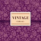 Violet vintage card Stock Photography