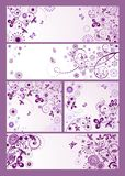 Violet vintage cards Royalty Free Stock Photos