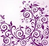 Violet vintage floral card Stock Photography