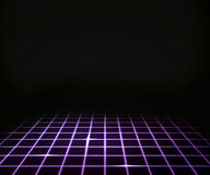 Violet Virtual Laser Floor Background Stock Photography