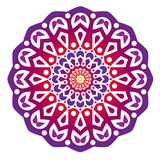 Violet water drop mandala stock illustration