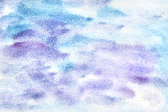 Violet Watercolor Background bleue Photos stock