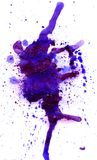 Violet Watercolor Blot Stockfotos
