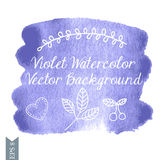 Violet watercolor vector back Royalty Free Stock Image