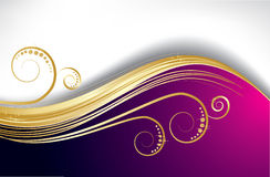 Violet wave background Stock Photo