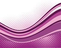 Violet waves background Stock Images