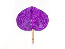 Violet weave fan Stock Images
