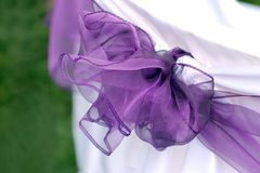 Violet wedding ribbon Royalty Free Stock Images