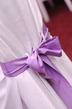 Violet wedding ribbon Stock Image