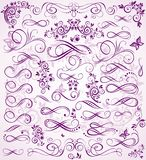 Violet wedding stencil Royalty Free Stock Photography