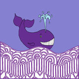Violet whale Stock Photos