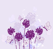 Violet wildflowers Stock Images