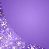 Violet winter background Royalty Free Stock Photos