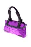 Violet woman purse (hand-bag) Stock Photos