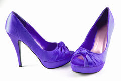 Violet women shoes Royalty Free Stock Images