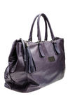Violet womens bag  on white background. Royalty Free Stock Photography