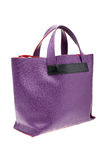 Violet womens bag  on white background. Stock Image