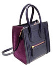 Violet womens bag  on white background. Royalty Free Stock Images