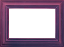 Violet wooden photo frame Stock Photo