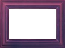 Violet wooden photo frame stock photo