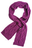 Violet wool scarf Royalty Free Stock Image
