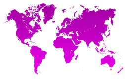 Violet World Map - vector Ilustración del Vector