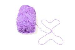 Violet yarn Stock Photo