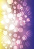 Violet and yellow bokeh abstract background Royalty Free Stock Photos