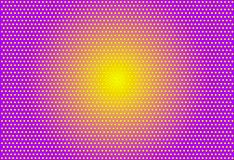 Violet-yellow-dotted-popart-background. PopArt spotted violet yellow background yellow dotted royalty free stock photo
