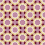 Violet and yellow pattern with floral tartan Royalty Free Stock Photos