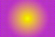Violeta-amarelo-pontilhar-popart-fundo foto de stock royalty free