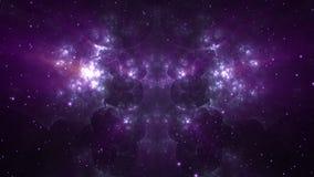 Violeta de la nebulosa del espacio almacen de video