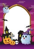 Violeta del marco de Halloween Imagen de archivo libre de regalías