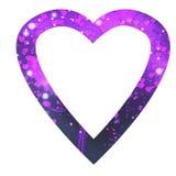 Violeta do coração Fotografia de Stock