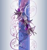Violeta e azul fotografia de stock royalty free